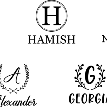 Monogram with name