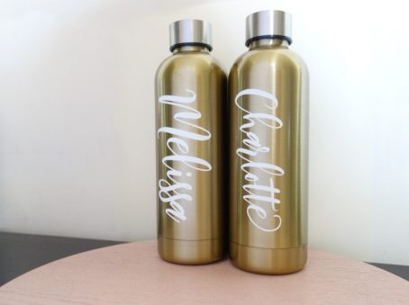 personalised name labels on drink bottles