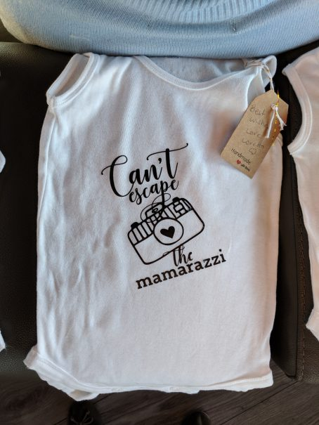 onesie iron-on decal mamarazzi