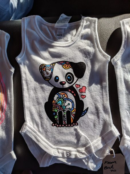 onesie iron-on decal puppy1