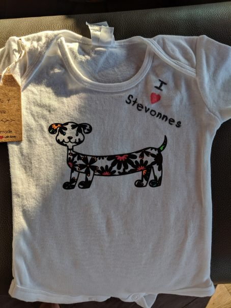 onesie iron-on decal puppy2