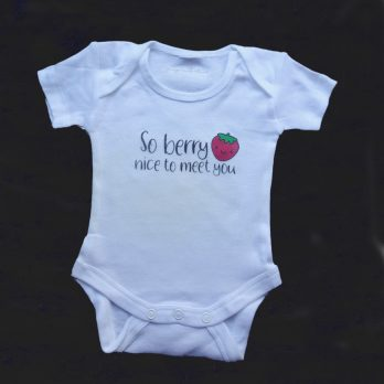 Baby shower onesie iron-on transfer