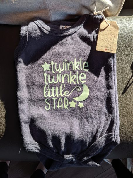 onesie iron-on decal twinkle